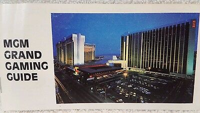 Original MGM Grand Casino Las Vegas 1984 Vintage Gaming Guide Blackjack Craps