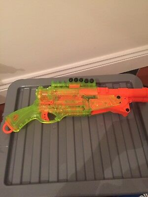 nerf gun. Double barrel, with a few bullets