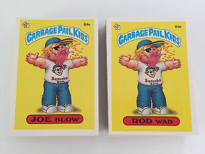 1986 USA Garbage Pail Kids 3rd Series COMPLETE Set of 82 Cards