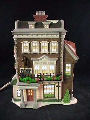 Dept 56 Heritage Dickens Village Crown & Cricket Inn #57509 Lighted House