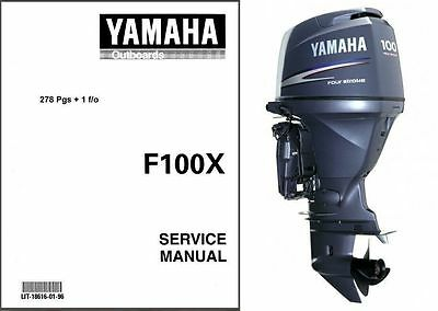 Yamaha F100 Outboard Motor Service Repair Manual CD - F100X F 100 F100AET F100TR