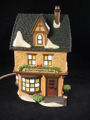 Dept 56 Dickens Village G. Choir's Weights & Scales #58301 Lighted House