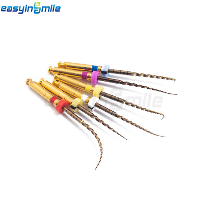 EASYINSMILE X-Taper Gold Compatible Endo Rotary Files Assorted NITI (6PCS)