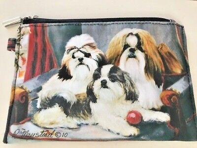 Shih Tzu Dog Theme Zippered Coin Purse