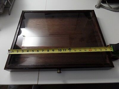 Portable Wood Table Top Counter top Display Cases