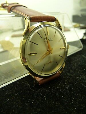 Vintage,gruen,hand Wind,14K Yellow Gold,watch,32Mm,mid-Century,eames Era,service