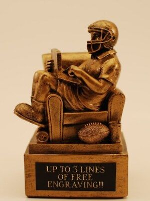 """Fantasy Football Trophy 6"""" Armchair Qb-  Free Engraving!  Ships In 1 Day!!"""