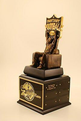 "Fantasy Football Trophy 19"" 18 Year Armchair Qb- Free Engraving! Ships In 1 Day"