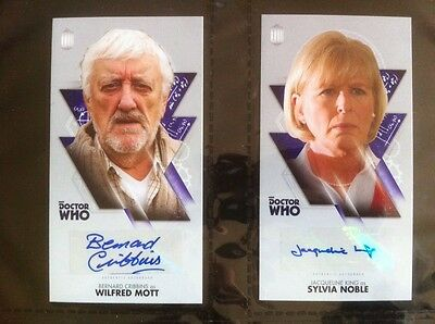 """TOPPS Dr Who  OVERSIZED 2.5 """"X 4.75"""" Auto Autograph Card  2 LOT Not signature"""