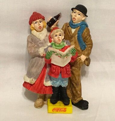 Coca Cola Town Square Collection Christmas Figurine 1996 Carolers
