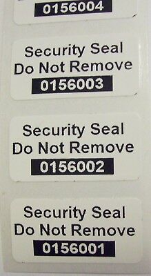 100 SSDNR#  Destructible Vinyl Tamper Proof Security  Sticker Label Seals