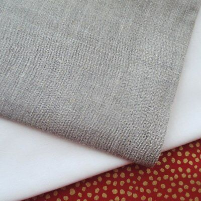 """ROMA 100% Linen 60"""" Wide Plain Natural Fabric Embroidery Felting Quilt Craft"""