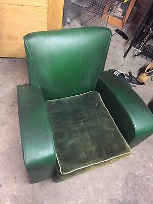 Vintage Retro Leather Vinyl Material Club Chair Sofa Suit Chesterfield 3 Piece