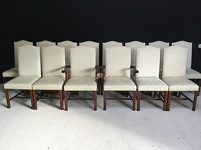 Exclusive Set 14 Harrods Designer Hepplewhite Style Chairs Pro French Polished.