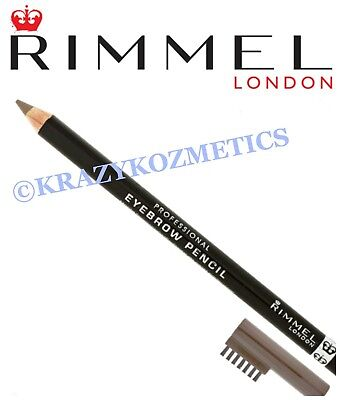 RIMMEL Professional EYEBROW PENCIL - Liner & Comb - BLACK - BROWN - HAZEL -