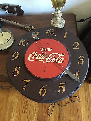 Coca Cola Vintage 1951 clock in great condition .Original Guaranteed MAKE OFFER