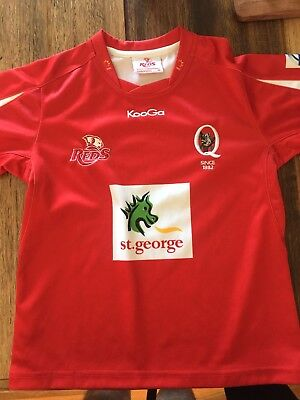 Signed Super Rugby Queensland Reds union jersey