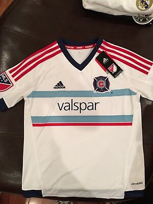 Adidas Chicago Fire 2015-16 Away Jersey, Size Youth Large (13-14 Years)