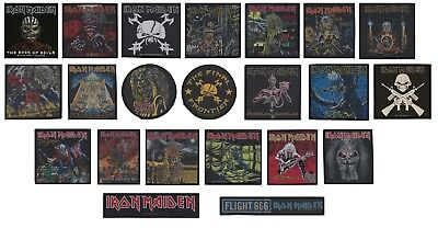 Iron Maiden Woven Patch - Album Art Somewhere Time Number Beast Sew On #076