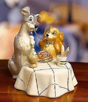 Lenox ~ LADY and the TRAMP Figurine ~ Disney ~ COA Spaghetti Dinner - New in BOX