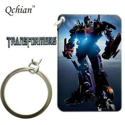 TRANSFORMERS  Movie Optimus Prime Square comic book style Key chain cosplay