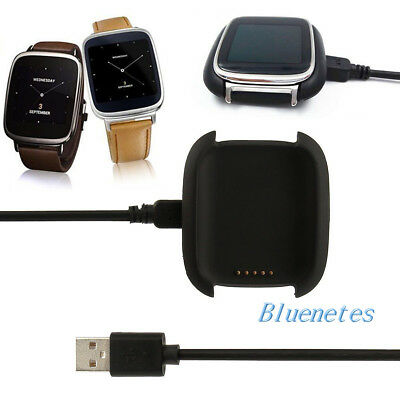Black Smart Watch Charger Charging Dock Cradle + USB Cable for ASUS ZenWatch