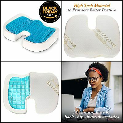 Orthopedic Coccyx Seat Cushion Foam Tailbone Pillow for Sciatica & Pain Relief