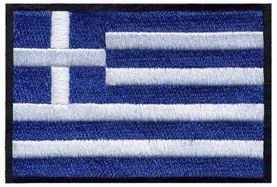 2 pcs GREEK Flag Embroidered Iron on Patches - GREECE