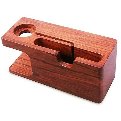 Aerb Rose Wood Charging Stand Bracket Docking Station Holder for iPhone iWatch