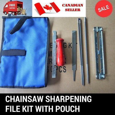 """8 pcs Chainsaw Chain Files Guide Kit Flat 3/16"""" Depth Gauge Sharpening for .325"""""""