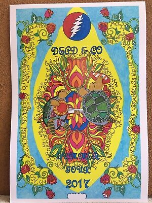 Dead And Company SUMMER 2017 Poster - dates in black lettering