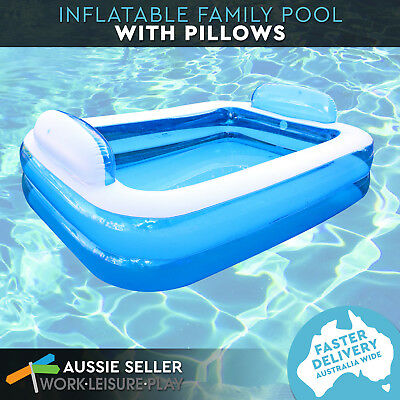 Airtime Inflatable Swimming Pool w/ Pillows Kids Summer Fun Play Toy