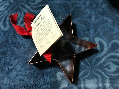 Crate & Barrel ~ Northern Star ~ Copper Cookie Cutter ~ New with Tag & Recipe