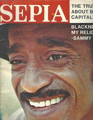 Sepia Magazine Aug 1971 Sammie Davis Jr. cover; Black Capitalism article