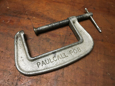 "Paul Call PO 8 Unbreakable 4"" G Clamp Old engineering/Woodwork  Hand Tools"