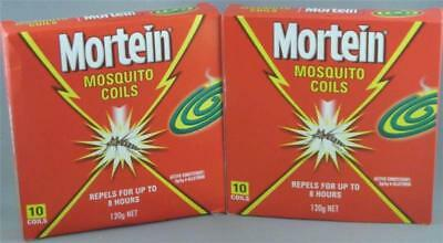 20 x MORTEIN Mosquito Repellent Coils 2 x10 Packs With 1 Holder Per Box