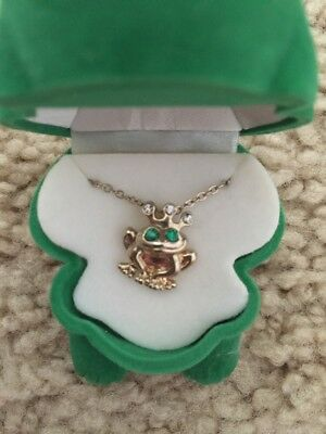 Green Frog Jewelry Box And Frog Necklace Children's Jewelry