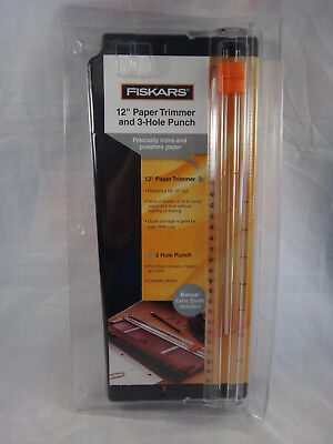 "Fiskars 12"" Paper Trimmer and 3-Hole Punch"