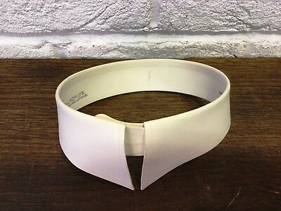 "Vtg Starched Detachable Collar *Kinch & Lach No 82 *15 1/4"" *Downton/Peaky Prop"