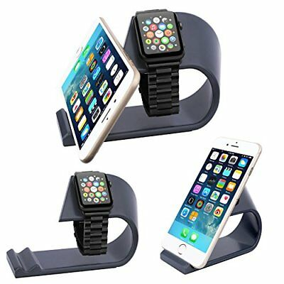 High Quality Aluminum 2 in 1 Charging Dock Stand for Apple iWatch & iPhone Black