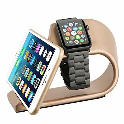 Aluminum 2 in 1 Charging Dock Portable Stand for Apple iWatch & iPhone Gold