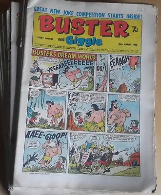 Large lot of 17  vintage BUSTER AND GIGGLE  COMIC 1968