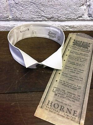 Vintage Starched Detachable Collar *Austin Reed Summit 21/16 *Downton/Peaky Prop