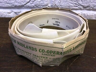 3 Vintage Starched Detachable Collars & Co-operative Laundries Collar Protector
