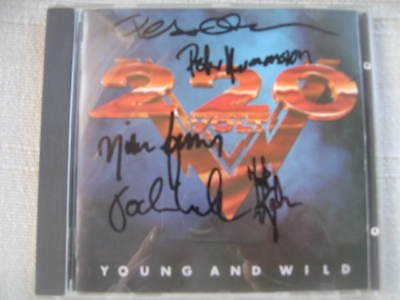 220 VOLT - Young and wild 1987 1pr CD Fully autographed NM TORCH Universe TREAT