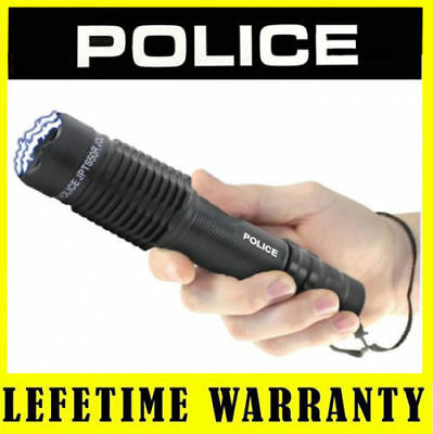 POLICE Stun Gun A2 - 999 MV Metal Rechargeable With LED Flashlight + Case
