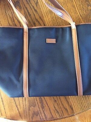 19beb6ff31d3 CHICECO Basic Large Travel Tote Shoulder Bag for Women - Blue + Brown