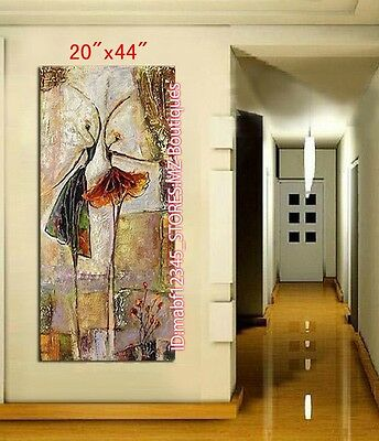 """NO Frame 20*44"""" Hand painted Oil Canvas Wall Art home Decor abstract dance YH680"""
