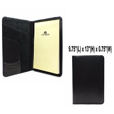 """Business Writing Padfolio Italian Bull Hide Leather Fits 8.5x11"""" Christmas Gift"""