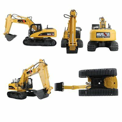 Fistone RC Excavator Crawler Truck Wireless Remote Controll With LED Lights NEW